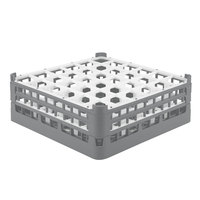 Vollrath 52780 Signature Full-Size Gray 36-Compartment 6 1/4 inch Tall Plus Glass Rack
