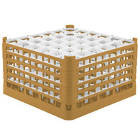 Vollrath 52783 Signature Full-Size Gold 36-Compartment 10 9/16 inch XXX-Tall Plus Glass Rack