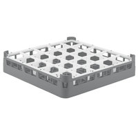 Vollrath 52684 Signature Full-Size Gray 25-Compartment 2 13/16 inch Short Glass Rack