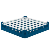 Vollrath 52784 Signature Full-Size Royal Blue 49-Compartment 3 1/4 inch Short Plus Glass Rack