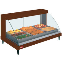 Hatco GRCDH-3P Copper 46 inch Glo-Ray Full Service Single Shelf Merchandiser with Humidity Controls - 1255W