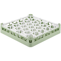 Vollrath 52811 Signature Lemon Drop Full-Size Light Green 30-Compartment 3 1/4 inch Short Plus Glass Rack