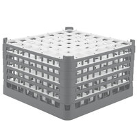 Vollrath 52789 Signature Full-Size Gray 49-Compartment 10 9/16 inch XXX-Tall Plus Glass Rack