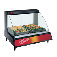 Hatco GRCDH-2P Black 33 inch Glo-Ray Full Service Single Shelf Merchandiser with Humidity Controls - 1030W