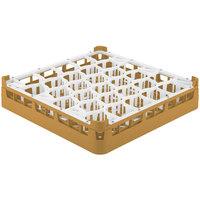Vollrath 52811 Signature Lemon Drop Full-Size Gold 30-Compartment 3 1/4 inch Short Plus Glass Rack