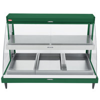 Hatco GRCDH-3PD Green 46 inch Glo-Ray Full Service Double Shelf Merchandiser with Humidity Controls - 1960W