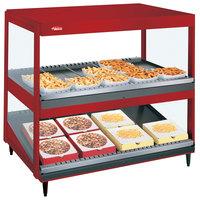 Hatco GRSDS/H-30D Warm Red Glo-Ray 30 inch Horizontal / Slanted Double Shelf Merchandiser
