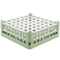Vollrath 52786 Signature Full-Size Light Green 49-Compartment 6 1/4 inch Tall Plus Glass Rack
