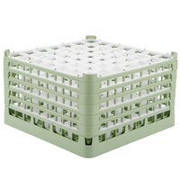 Vollrath 52789 Signature Full-Size Light Green 49-Compartment 10 9/16 inch XXX-Tall Plus Glass Rack