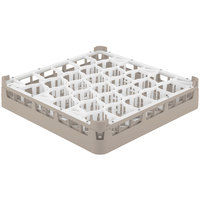 Vollrath 52811 Signature Lemon Drop Full-Size Beige 30-Compartment 3 1/4 inch Short Plus Glass Rack