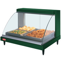 Hatco GRCDH-2P Green 33 inch Glo-Ray Full Service Single Shelf Merchandiser with Humidity Controls - 1030W
