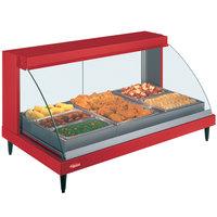 Hatco GRCDH-3P Red 46 inch Glo-Ray Full Service Single Shelf Merchandiser with Humidity Controls - 1255W