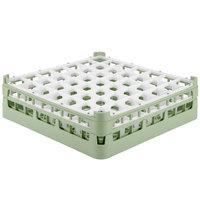 Vollrath 52785 Signature Full-Size Light Green 49-Compartment 4 13/16 inch Medium Plus Glass Rack