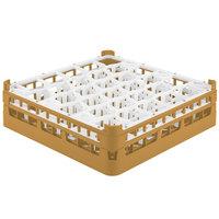 Vollrath 52813 Signature Lemon Drop Full-Size Gold 30-Compartment 4 13/16 inch Medium Plus Glass Rack