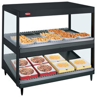 Hatco GRSDS/H-36D Black Glo-Ray 36 inch Horizontal / Slanted Double Shelf Merchandiser