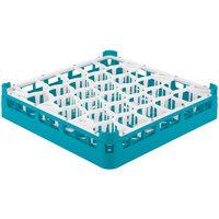 Vollrath 52811 Signature Lemon Drop Full-Size Light Blue 30-Compartment 3 1/4 inch Short Plus Glass Rack