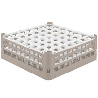 Vollrath 52786 Signature Full-Size Beige 49-Compartment 6 1/4 inch Tall Plus Glass Rack