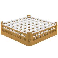 Vollrath 52785 Signature Full-Size Gold 49-Compartment 4 13/16 inch Medium Plus Glass Rack