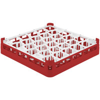 Vollrath 52811 Signature Lemon Drop Full-Size Red 30-Compartment 3 1/4 inch Short Plus Glass Rack