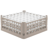 Vollrath 52787 Signature Full-Size Beige 49-Compartment 7 11/16 inch X-Tall Plus Glass Rack