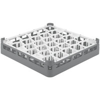 Vollrath 52790 Signature Lemon Drop Full-Size Gray 30-Compartment 2 13/16 inch Short Glass Rack