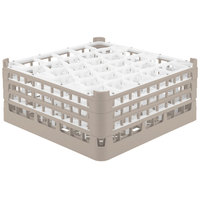 Vollrath 52832 Signature Lemon Drop Full-Size Beige 30-Compartment 7 1/8 inch X-Tall Glass Rack
