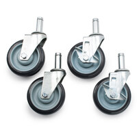 5 inch Poly Casters for Wire Shelves - 4 / Set
