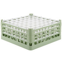 Vollrath 52787 Signature Full-Size Light Green 49-Compartment 7 11/16 inch X-Tall Plus Glass Rack