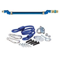 36 inch Dormont 16100BPQ2SR Deluxe SwivelMAX Gas Connector Kit with Coiled Restraining Device - 1 inch Diameter