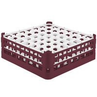 Vollrath 52786 Signature Full-Size Burgundy 49-Compartment 6 1/4 inch Tall Plus Glass Rack