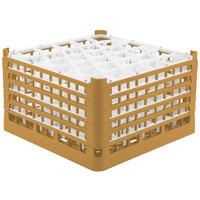 Vollrath 52847 Signature Lemon Drop Full-Size Gold 30-Compartment 9 15/16 inch XXX-Tall Glass Rack