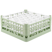 Vollrath 52844 Signature Lemon Drop Full-Size Light Green 30-Compartment 7 11/16 inch X-Tall Plus Glass Rack