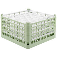 Vollrath 52848 Signature Lemon Drop Full-Size Light Green 30-Compartment 10 9/16 inch XXX-Tall Plus Glass Rack