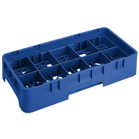 Cambro 10HS434186 Navy Blue Camrack 10 Compartment 5 1/4 inch Half Size Glass Rack