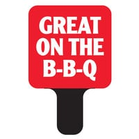 Deli Tag Mini Topper - GREAT ON THE BBQ - Red