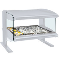 Hatco HXMH-24 White Granite LED 24 inch Horizontal Single Shelf Merchandiser - 120V