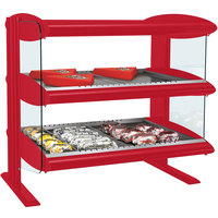 Hatco HXMH-30D Warm Red LED 30 inch Horizontal Double Shelf Merchandiser - 120/240V