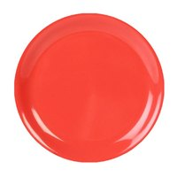 Thunder Group CR110RD 10 1/2 inch Orange Narrow Rim Melamine Plate - 12/Pack