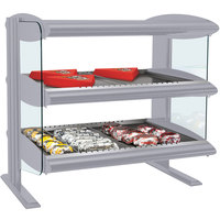 Hatco HXMH-30D Gray Granite LED 30 inch Horizontal Double Shelf Merchandiser - 120/240V