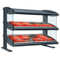 Hatco HXMH-24D Gray Granite LED 24 inch Horizontal Double Shelf Merchandiser - 120V