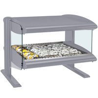 Hatco HXMH-24 Gray Granite LED 24 inch Horizontal Single Shelf Merchandiser - 120V