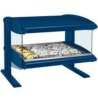 Hatco HXMH-24 Navy Blue LED 24 inch Horizontal Single Shelf Merchandiser - 120V