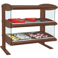 Hatco HXMH-30D Antique Copper LED 30 inch Horizontal Double Shelf Merchandiser - 120/208V