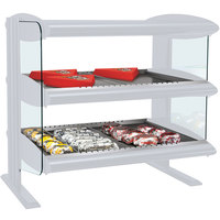 Hatco HXMH-30D White Granite LED 30 inch Horizontal Double Shelf Merchandiser - 120/208V