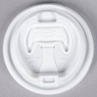 Dart 16RCL White Travel Lid with Reclosable Tab - 100/Pack