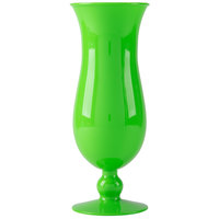 GET HUR-1-G Cheers 15 oz. Green Plastic Hurricane Glass - 24/Case