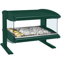 Hatco HXMH-24 Hunter Green LED 24 inch Horizontal Single Shelf Merchandiser - 120V
