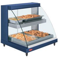 Hatco GRCDH-2PD Navy 33 inch Glo-Ray Full Service Double Shelf Merchandiser with Humidity Controls - 1210W