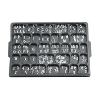 Aarco 1/2 inch Helvetica Universal Single Tab Letter and Number Set - 165 Characters