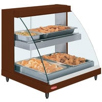 Hatco GRCDH-2PD Copper 33 inch Glo-Ray Full Service Double Shelf Merchandiser with Humidity Controls - 1210W